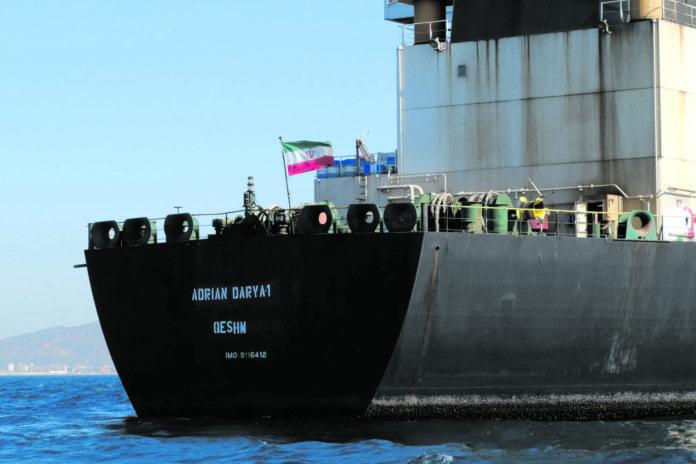 Der iranische Tanker mit 2,1 Millionen Fass Rohöl durfte die Küste Gibraltars verlassen und steuert nun Griechenland an.