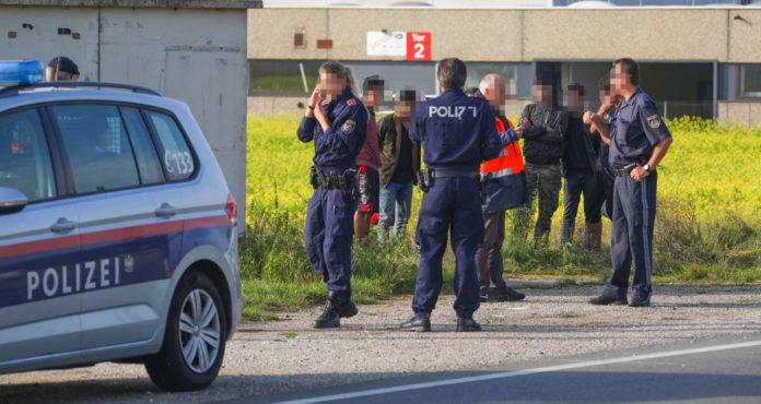 Polizisten aus mehreren Bezirken waren im Einsatz, um die Illegalen zu fassen.