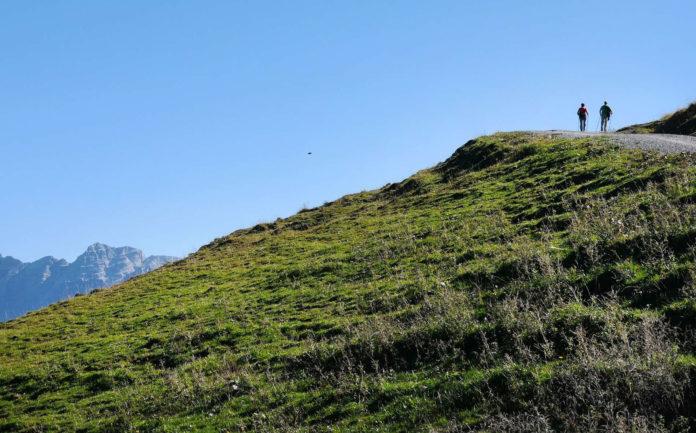 Ein Wochenende zum Genießen: Auch auf den Bergen wird es mild.