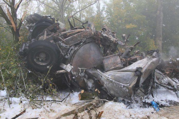 Ein 27-jähriger Tscheche verbrannte im Führerhaus eines Milchtransporters.