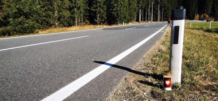 Die Unfallstelle an der Böhmerwaldstraße (B38) im Gemeindegebiet von St. Oswald.