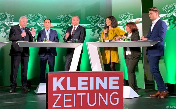 """Abtasten bei erster """"Elefantenrunde"""" zur Steiermark-Wahl"""