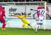 Der Schuss ins Glück: Mit diesem Treffer bescherte Thomas Goiginger dem LASK den sechsten Bundesliga-Sieg in Serie.