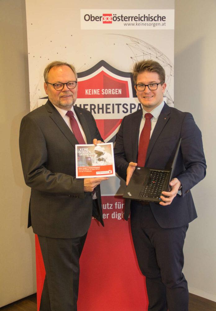 Wollen KMU besser schützen (v. l.): GD Stockinger und der für das Produkt verantwortliche Gregor Stiebellehner
