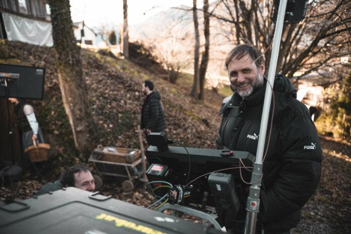Regisseur Fritz Kalteis bei den Dreharbeiten