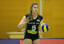 """Kapitänin Nikolina Maros und die """"Steelgirls"""" gehen voll fokussiert in das Schlagerspiel gegen Graz."""