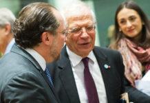 """Truppenentsendung """"sehr gut überlegen"""": Außenminister Schallenberg mit EU-Außenbeauftragtem Borrell in Brüssel."""