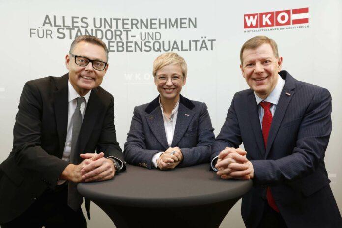 Fordern rasche Reformen ein: WKOÖ-Präsidentin Doris Hummer, WKOÖ-Direktor Hermann Pühringer mit Christoph Schneider, Leiter Wirtschafts- und Handelspolitik WKÖ (r.)