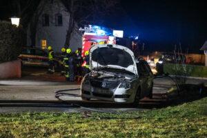 Bei dem Fahrzeug wurde die Polsterung des Fahrersitzes versengt. © laumat.at