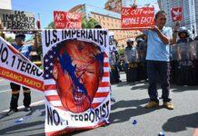 Anti-Trump-Demo in Manila (Philippinen): Der US-Präsident fördert mit seiner Politik den Antiamerikanismus rund um den Globus.