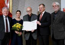 V. l.: LH a.D. Josef Pühringer, Elisabeth Manhal, Hans Eichhorn und LH Thomas Stelzer