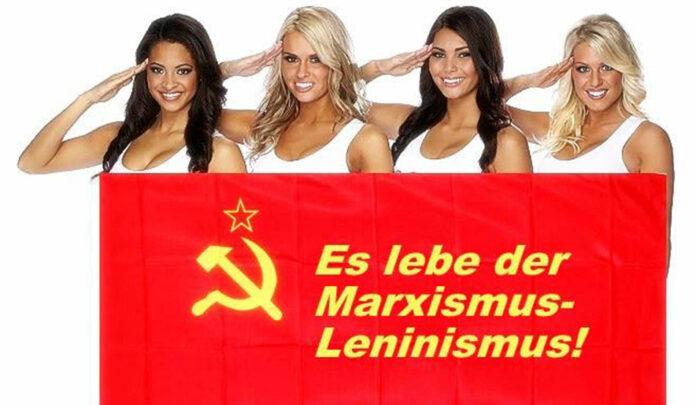 Werbesujet der Kommunistischen Plattform.
