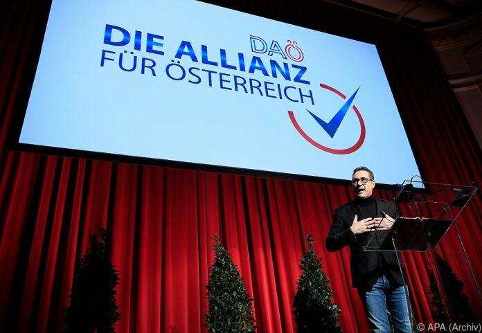 Strache deutet Antritt bei Wien-Wahl mit DAÖ an