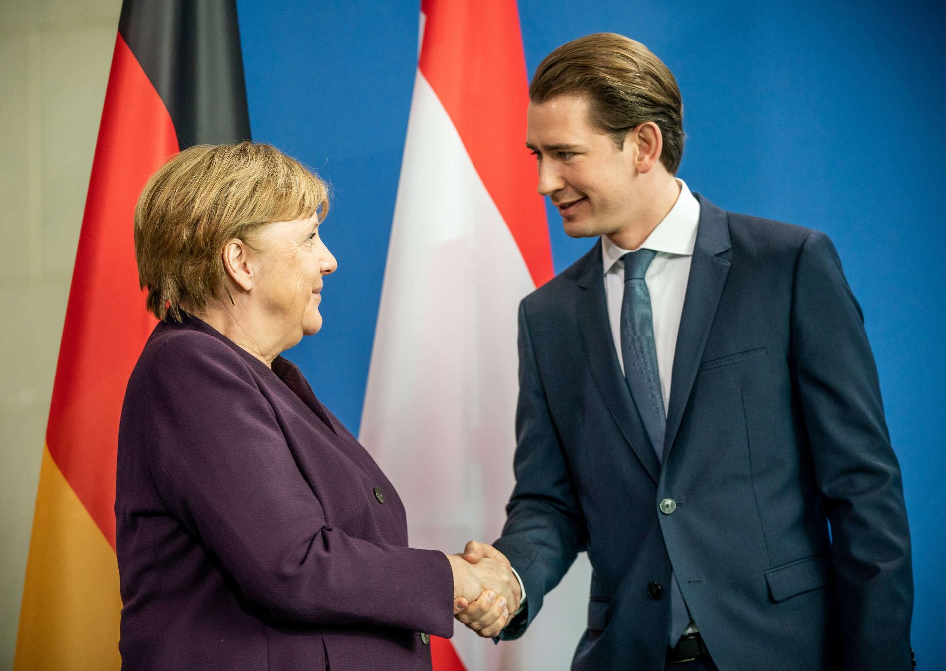 Merkel empfängt Österreichs Kanzler Kurz in Berlin