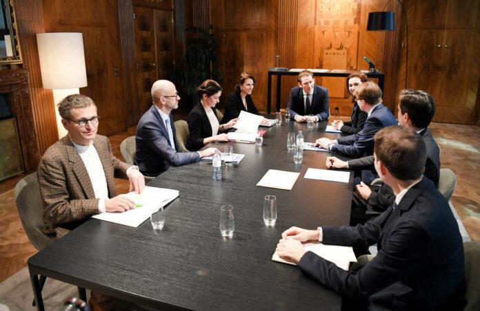 Vertreter der Standesvertretungen der Staatsanwälte konferierten gestern mit Kanzler Sebastian Kurz (ÖVP), Justizministerin Alma Zadic (G) und Kanzleramtsministerin Karoline Edtstadler (ÖVP).