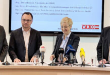 V. l.: Wilfried Seyruck, Florian Steinhart, WKOÖ-Präsidentin Doris Hummer und Walter Hemetsberger.