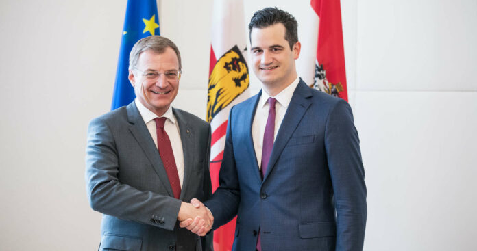 LH Stelzer und Florian Kirchstetter (r.)
