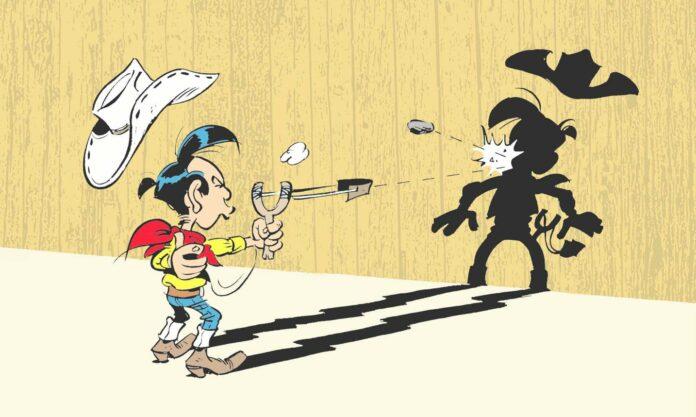 """Der kleine lonesome Cowboy Lucky Luke ist der Held in """"Volle Fahrt voraus"""" — ab 5. März im Handel."""