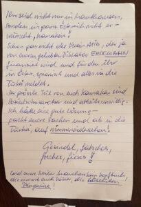 Rassistisch, sexistisch: Der Schmähbrief an den türkischen Verein Atib Mauthausen. ©Atib