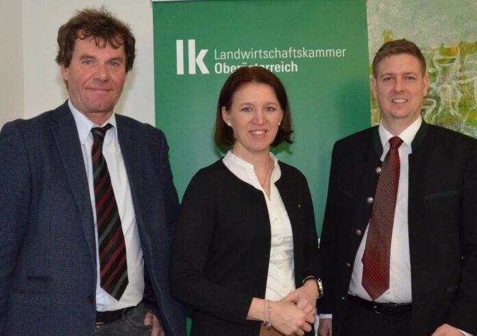 V. l.: Christian Krumphuber, LK OÖ-Präsidentin Langer-Weninger und Christian Rottensteiner