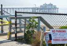 Maschendraht statt Baywatch. An den kilometerlangen Stränden Kaliforniens sind nicht einmal mehr Surfer erwünscht, an den letzten Wochenenden war hier zu viel Betrieb.