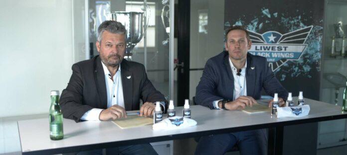 In einer digitalen Pressekonferenz nahmen Boss Peter Freunschlag (l.) und General-Manager Gregor Baumgartner zur aktuellen Lage Stellung.