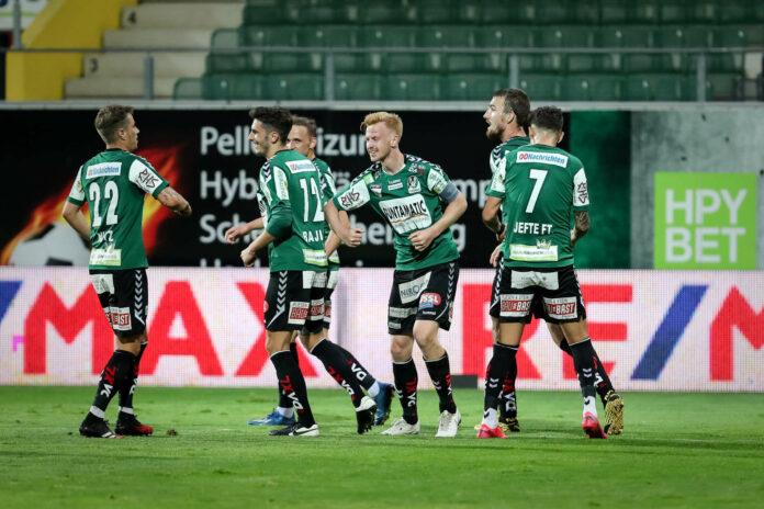 Tabellenführer SV Ried jubelte über einen gelungenen Re-Start in der 2. Liga gegen Lafnitz.