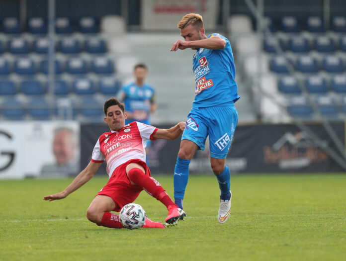 Vorwärts Steyr (Bild: Albert Prada-Vega/l.) erkämpfte sich einen Punkt beim FAC.