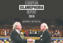 "Die Nobelpreisverleihung an ""Holocaustleugner"" Handke (l.) durch König Carl XVI. Gustaf ziert die Titelseite des Islamophobiereports."