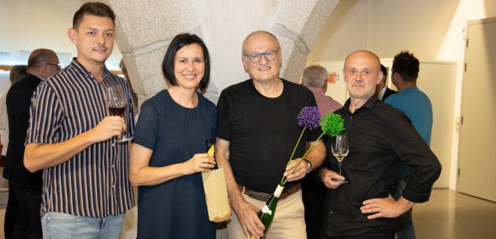 V. l.: Auch Daniel Feichtmayr (Toyota Feichtmayr), die Organisatoren Gertraud und Herbert Gossenreiter sowie Karikaturist Rupert Hörbst gaben ihre Stimmen ab.
