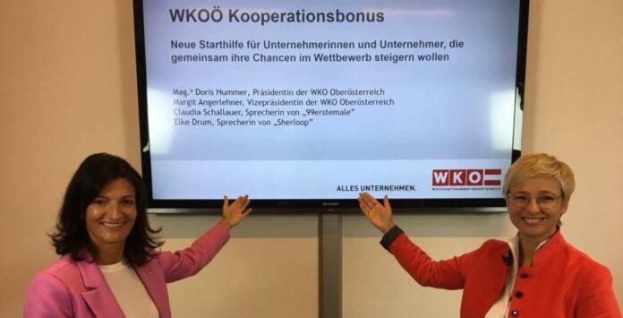 Präsidentin Doris Hummer und Vizepräsidentin Margit Angerlehner unterstützen innovative Netzwerke.
