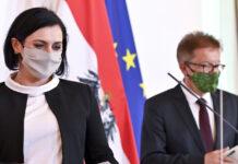 v.l.: Landwirtschaftsministerin Elisabeth Köstinger und Gesundheitsminister Rudolf Anschober