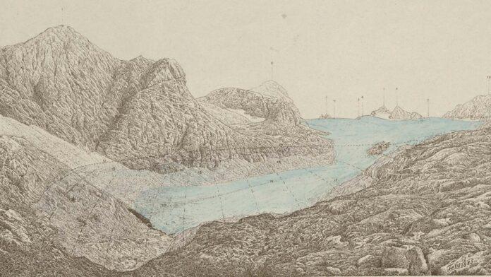 Das Carlseisfeld im September 1884 und seine räumliche Ausdehnung in den Jahren 1855-56