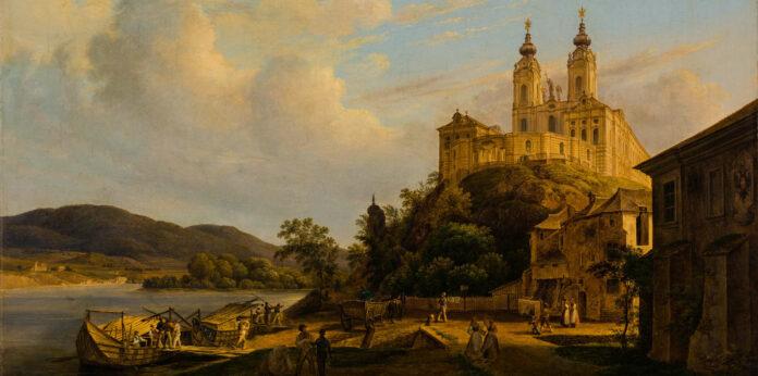 Thomas Ender: Blick auf Stift Melk, 1841