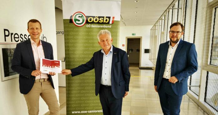 Paul Eiselsberg, LH a. D. Josef Pühringer und Franz Ebner (v. l.) präsentierten gestern die Ergebnisse einer Umfrage unter oö. Senioren.