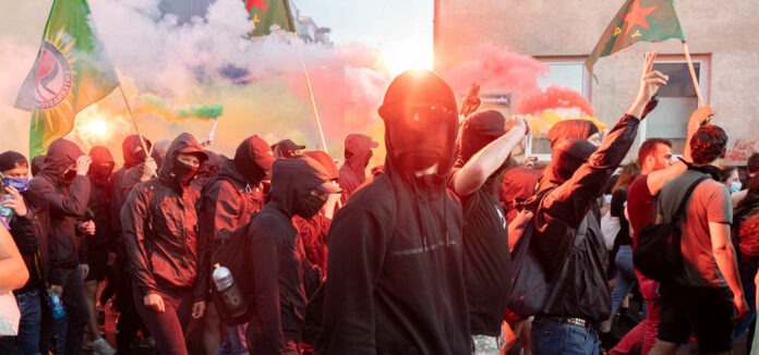 Kundgebung der Antifa in Wien-Favoriten Ende Juni.