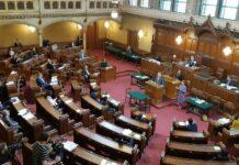 Nach der Wien-Wahl wird der Wiener Gemeinderat neu besetzt — im Bild eine Sitzung zum Corona-Hilfspaket im März.