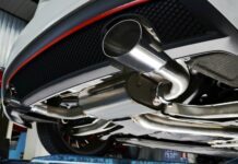 New generation of sportive mufflers. Oval or round Car Exhau