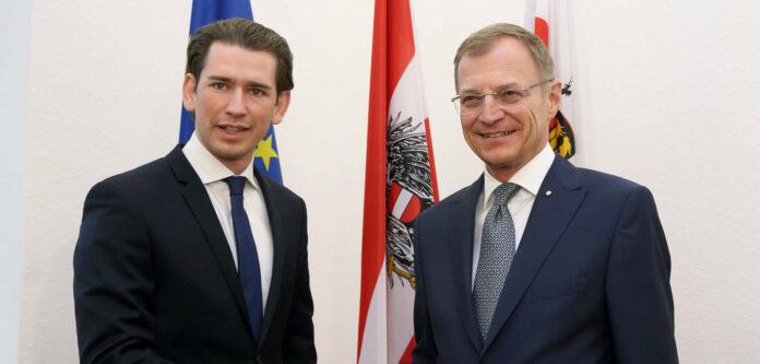 Schon vor Corona im Gespräch – BK Sebastian Kurz, LH Thomas Stelzer.