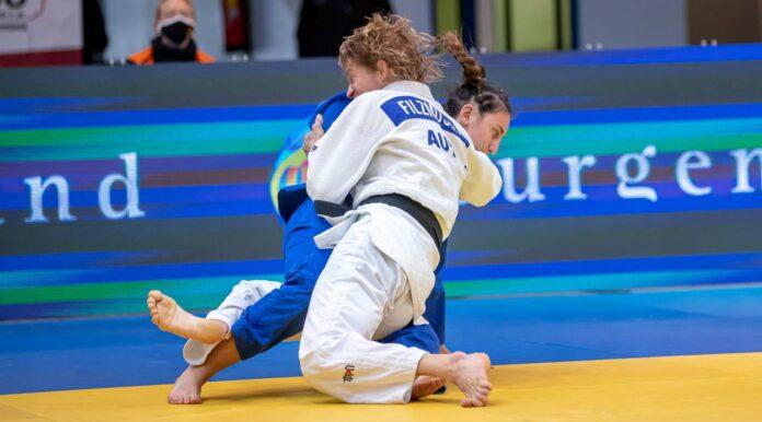 Mit lädiertem rechten Knie holte Sabrina Filzmoser (in weiß) ihren insgesamt 14. Staatsmeistertitel.