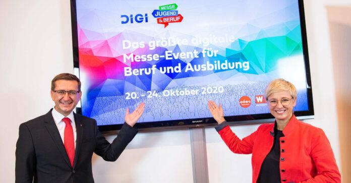 Wirtschaftslandesrat Markus Achleitner und Wirtschaftskammer-Präsidentin Doris Hummer freuen sich, dass die Messe Jugend und Beruf heuer im digitalen Format abgehalten werden kann.
