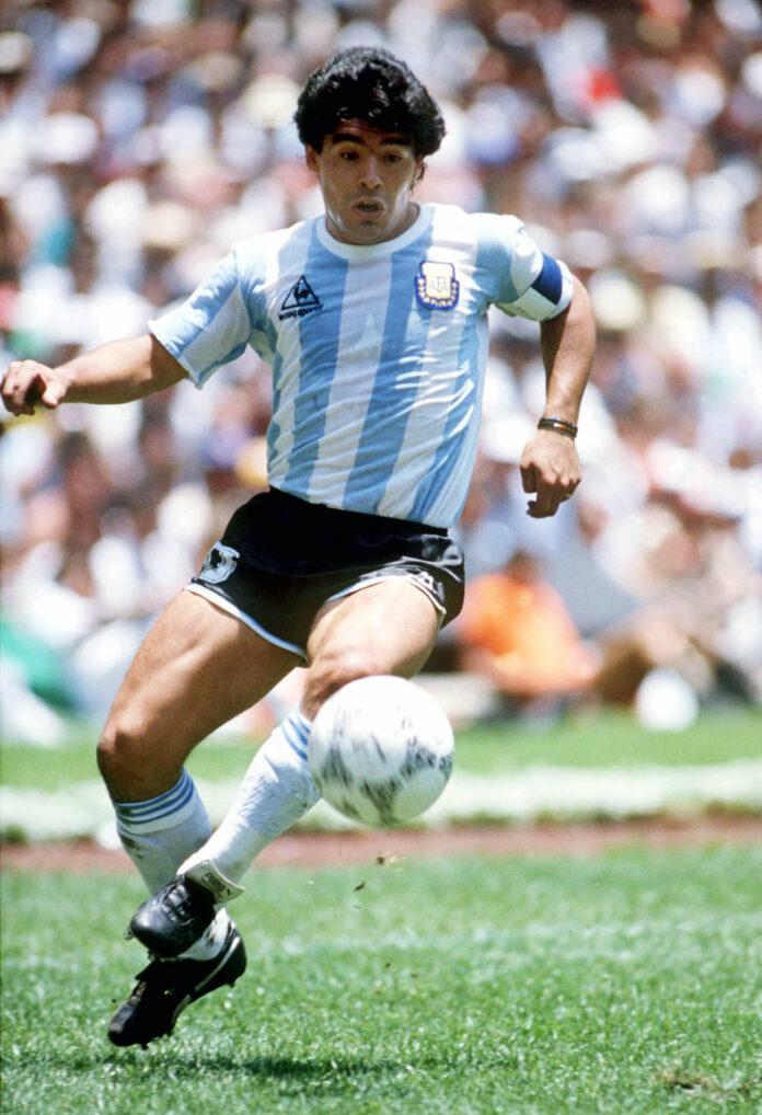 Diego Maradona in Action