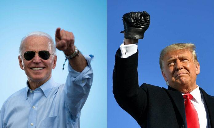 Angst vor Unruhen nach Wahl: Wie hier in Los Angeles wurden vielerorts Geschäfte verbarrikadiert.Biden und Trump gingen siegesgewiss in die Wahl.Die Amerikaner haben gewählt: Ob der Verlierer die Entscheidung auch akzeptieren wird, bleibt eine bange Frage.