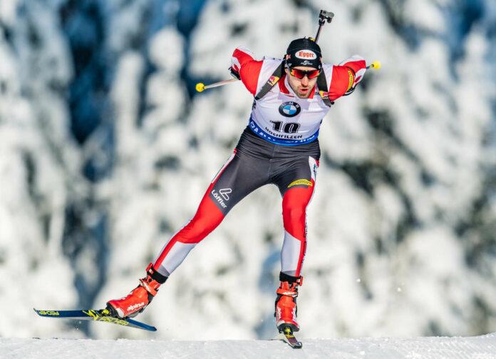 Dominik Landertinger tauschte Langlauf-Ski und Gewehr gegen das ORF-Mikrofon.
