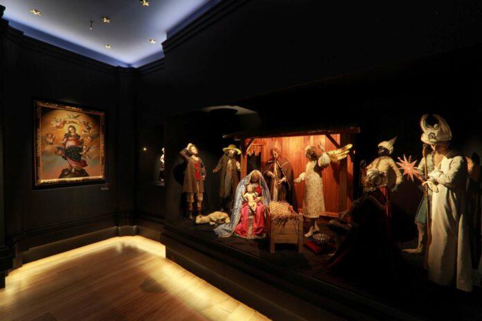Blick in die Krippenausstellung im Schlossmuseum Linz