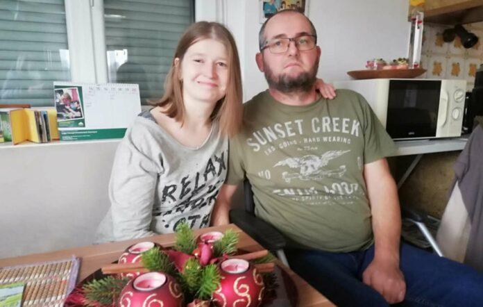 Sie freuen sich auf die große Erleichterung: Dominik Falkner und seine Daniela