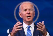 """""""Wir müssen jetzt handeln"""", sagte Joe Biden im Rahmen der Präsentation seines Hilfspaketes in Wilmington, Delaware,. """"Wir haben eine moralische Verpflichtung."""""""