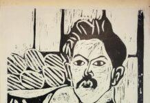 Ausstellungsplakat (Ostereier), Holzschnitt, Lithographie, 1960