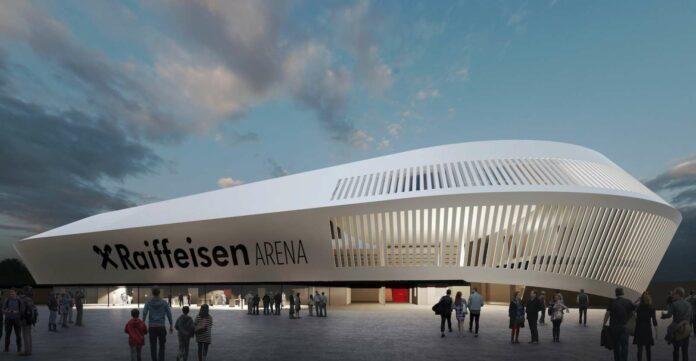 So wird die neue Arena des LASK auf der Gugl 2022 aussehen.