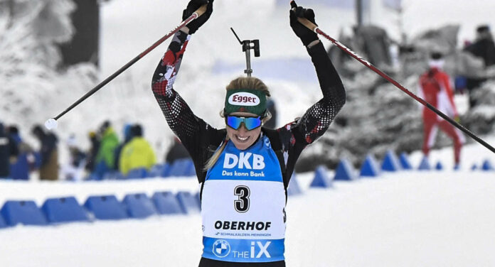 Lisa Hauser ist Österreichs heißestes Eisen auf WM-Edelmetall, eine Herren-Medaille (l. Simon Eder) wäre dagegen eine echte Sensation.